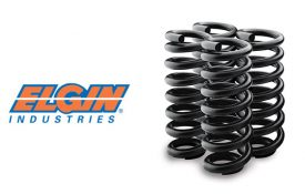Elgin Industries logo next to a set of coil springs.